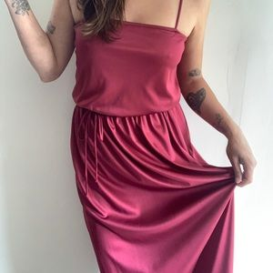 Vintage burgundy disco dress
